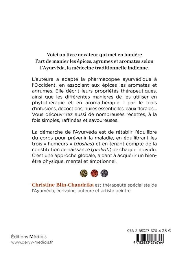 description livre Epices, aromates et agrumes selon l'Ayurvéda