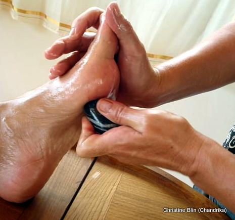 Marmathérapie  du pied