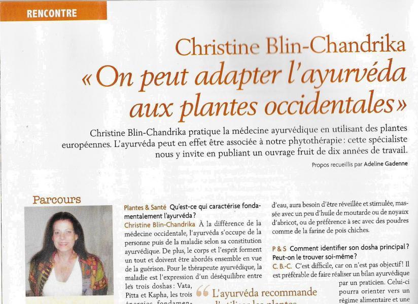 Article christine dans plantes et sante d avril 2017