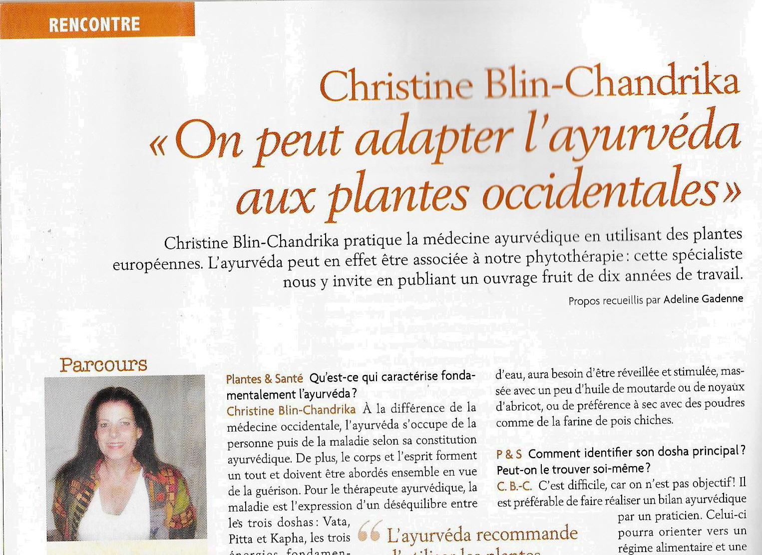Article christine dans plantes et sante d avril 2018