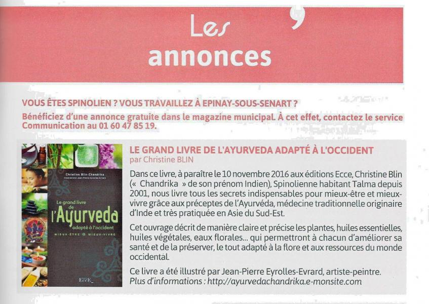 Article spinomag octobre 2016