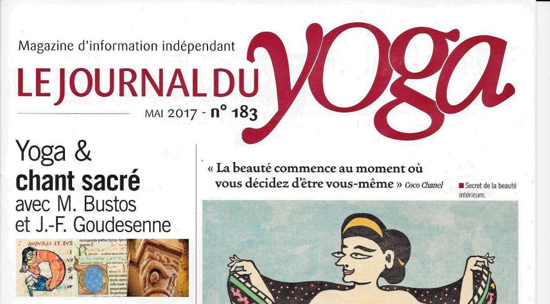 Copie de couverture le journal du yoga n 183