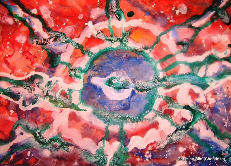 Eclipse aquarelle 47 5 x 37 5 cm