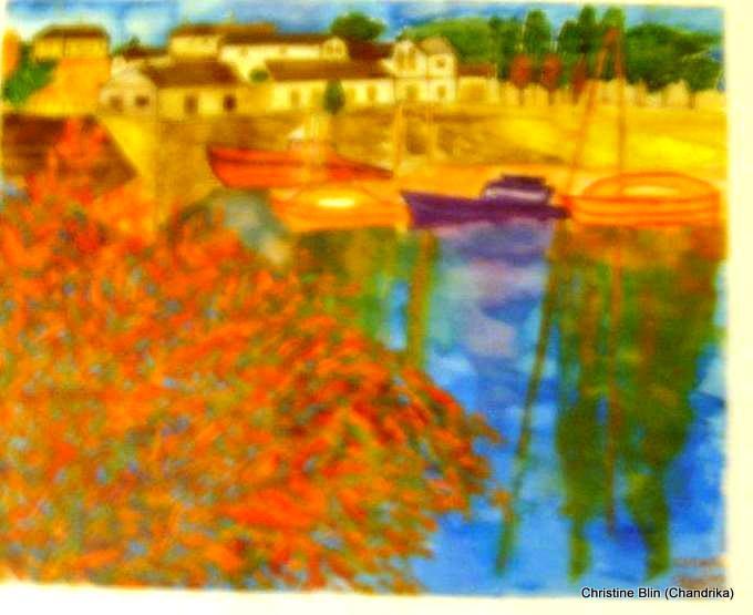 Ile de Ré - Aquarelle - 49, 5 x 39,5 cm