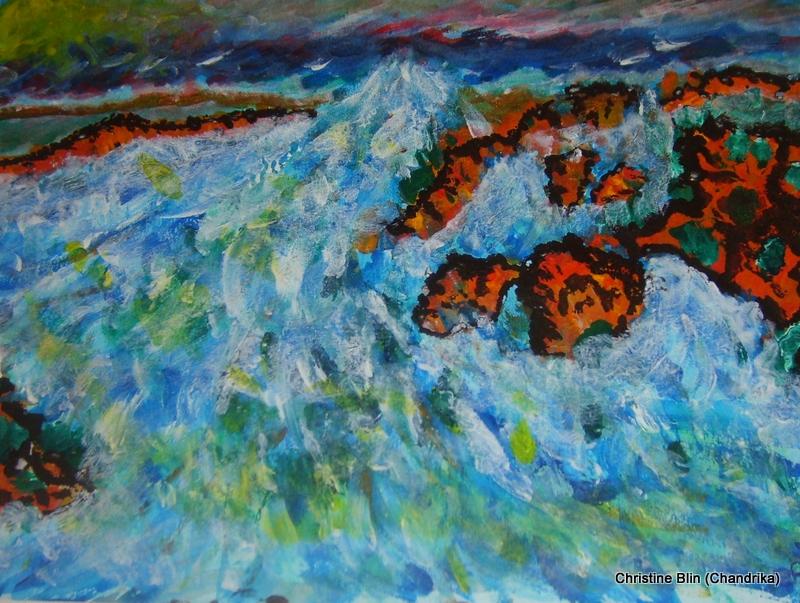 La mer - Acrylique - 40 x 30 cm
