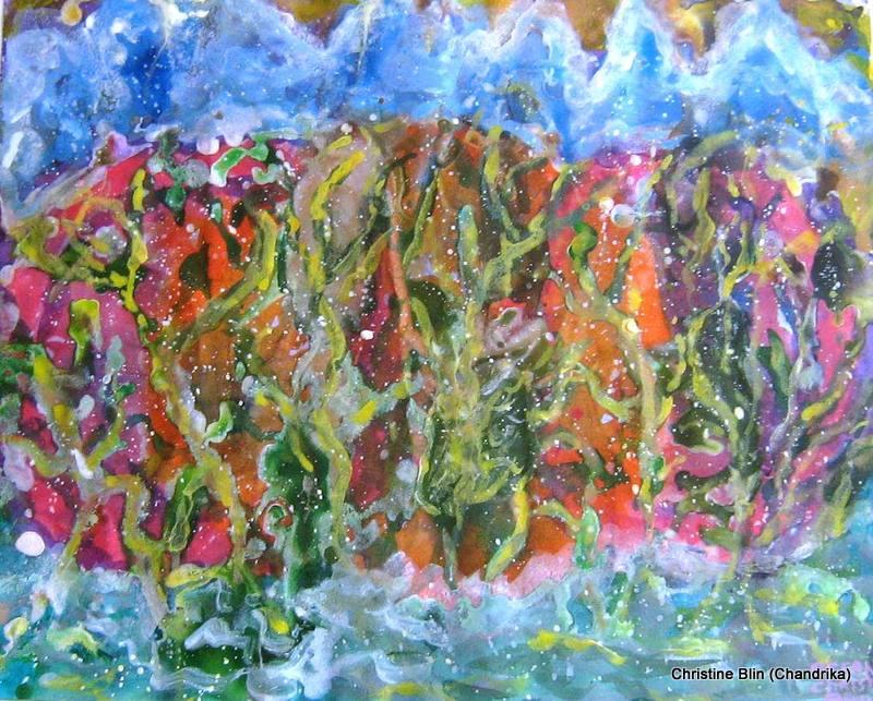 Océan - Acrylique - 53 x 43 cm